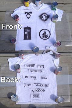 I made a shirt ~Bad Wolf Girl  The Mortal Instruments  Doctor Who  Divergent The Hunger Games