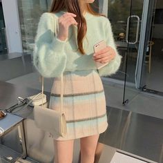 Stylish ideas on korean fashion outfits can find Korean fashion and more on our website.Stylish ideas on korean fashion outfits 803 Cute Casual Outfits, Girly Outfits, Mode Outfits, Pretty Outfits, Vintage Outfits, Dress Outfits, Vintage Fashion, Unique Outfits, Casual Skirts
