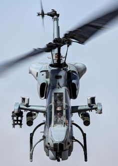 AH-1 Cobra with a 20 mm M197 3-barreled Gatling cannon with 14 rockets mounted in the M158 launchers