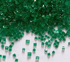 Colombian Emeralds. I'd kill to run my hands through this.