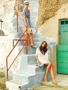Achilleas Accessories Spring/Summer 2015  #campaign #lookbokk #spring2015 #summer2015 #fashion #look #style Spring Summer 2015, Shoulder Dress, Campaign, Beach, Dresses, Accessories, Style, Fashion, Vestidos