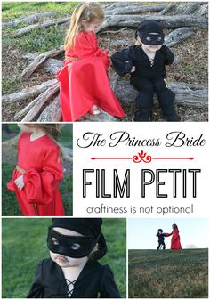 princess bride film petit - mini buttercup and dread pirate roberts! // craftiness is not optional
