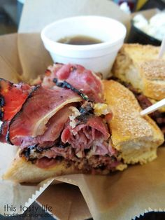 Pastrami Dip sandwich from New York on Rye in Miramar - San Diego, CA | This Tasty Life