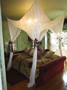 It's kind of like a fairy bedroom!