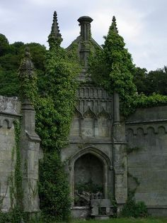 Margam Castle was a large Victorian era country house, built in Margam, Port Talbot, Wales, for Christopher Rice Mansel Talbot that now stands abandoned & overgrown! Beautiful Castles, Beautiful Buildings, Beautiful Places, Amazing Places, Wonderful Places, The Places Youll Go, Places To See, Hidden Places, Magic Places