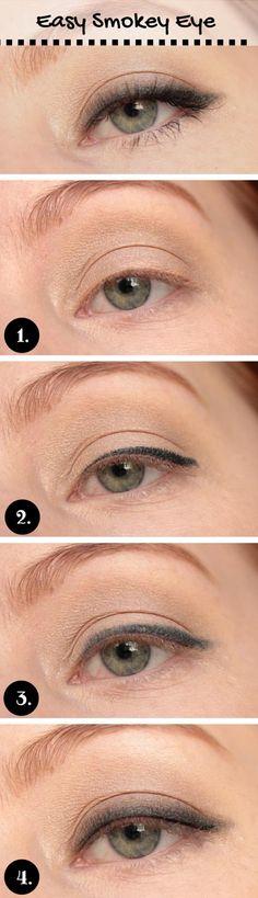 Easy Smokey Eye Tutorial for Blue Eyes