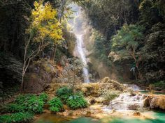 Luang Prabang Province – Laos (by Simon Matzinger) Paradise City, Paradise On Earth, Paradise Island, Jehovah Paradise, Lost Paradise, Tropical Paradise, Magical Pictures, Fantasy Pictures, Magical Images