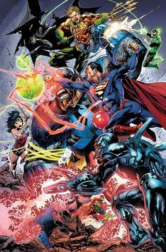 Justice Leaque vs Darkseid by Ivan Reis