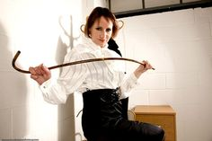 Old fashioned femdom spanking governess