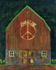 ☯☮ॐ American Hippie Bohemian Wanderlust Style ~ The Imagine Peace ☮ Barn!