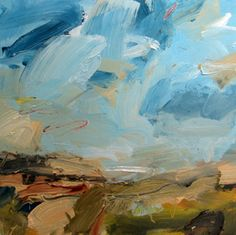 Artist Louise Balaam creates atmospheric landscapes and abstract paintings in Sevenoaks, Kent, South East England, uk Abstract Landscape Painting, Seascape Paintings, Landscape Art, Landscape Paintings, Abstract Art, Landscape Design, Beautiful Paintings, Contemporary Paintings, Creations