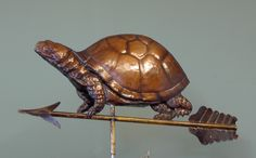 Custom Copper Weathervanes | Weathervane Box Turtle WeathervaneFull-Bodied, All Copper Weathervane ...