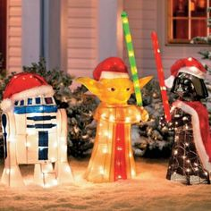 @Gordana Rink, here's a holiday decorating for you!       Star Wars Holiday Decor