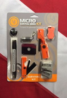 micro survival kit bug out bag gear emergency disaster tactical preparedness ust ust Survival Supplies, Survival Food, Camping Survival, Survival Prepping, Emergency Preparedness, Survival Skills, Emergency Planning, Survival Fishing, Emergency Kits