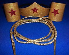 Wonder Woman Costume Accessories Choose Set by CapeandCloak