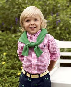 """Dress them up for a special occasion or down for a day of fun in this season's playful styles"" (Ralph Lauren)."
