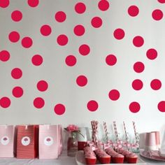 Ruby Red Wall Dots The best shade of red!