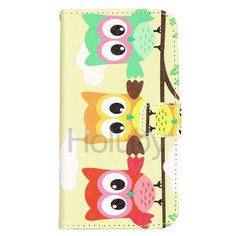Cross Pattern Wallet Magnetic Flip Stand TPU+Leather Case For Samsung Galaxy S5 i9600 G900(Owl)