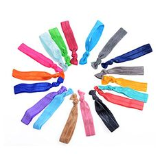 Kamo 18 Pack Elastic Hair Ties Ponytail Holders Hair Bands *** Learn more by visiting the image link.(This is an Amazon affiliate link and I receive a commission for the sales)