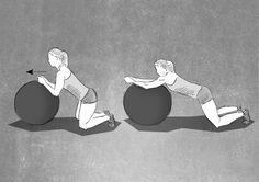 Swissball Exercise great for core stability Core Stability, Body Weight, Fitness, Disney Characters, Fictional Characters, Family Guy, Exercise, Workout, Guys