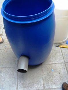 biogas Digester by plastic drum under construction ~ Biogas Plant (Anaerobic Digester) Blog