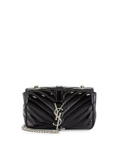 Saint Laurent V-Flap Patent Leather Mini Shoulder Chain Bag 01a41a969f2a5