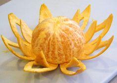 Апельсиновые цветы к праздничному столу