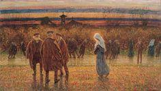 Angelo Dall'Oca Bianca (Italian, 1858-1942)    Falling leaves (Foglie cadenti), 1898
