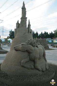70 sculptures somptueuses qui élèvent les châteaux de sable au rang d'oeuvres…