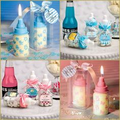Baby Shower Party Favors - Baby Bottle for a baby girl or a baby boy from HotRef.com #babyshower #babybottle #babygirl #babyboy