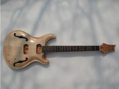 Top grade Unfinished electric guitar body with neck , Excellent handcraft