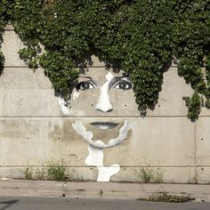 This is beautiful because it uses the tree as their hair and makes the master piece even more beautiful.