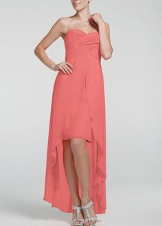 My bridesmaids will wear this dress in coral reef, guava, and punch!