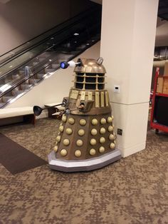 We're setting up at @GeekGirlCon ! ! and look what we found!! #dalek #eventprofs #geekgirl