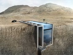 This incredible glass house will be built into a cliff above the Aegean sea.