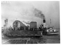 "Southern Pacific's ferry barge, the ""Mastodon""..."