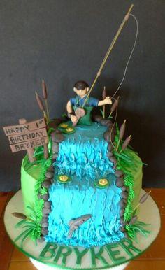 Bryker's fly fishing cake :)