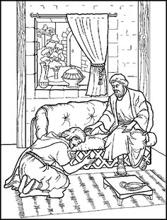 Ananias ABDA ACTS Arts And Publishing Coloring Page