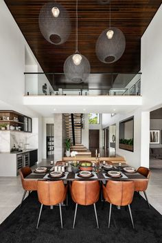 Best Contemporary Dining Room Design Ideas - Kitchen - Info Virals - New Fashion and Home Design around the World Contemporary Dining Room Lighting, Contemporary Interior Design, Modern Lighting, Modern Contemporary, Table Design, Dining Room Design, Sweet Home, Luxury Dining Room, Dining Rooms