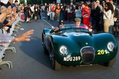 #BrianJohnson of #AC/DC at #MilleMiglia 2014 driving a #Jaguarmille