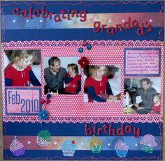 Celebrating Grandad's birthday