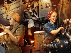 Rosie_the_Riveter_by_TamasGaspar - Looking forward to Labor Day