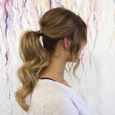 50 Head-Turning Messy Ponytail Hairstyles — Casual Elegance                                                                                                                                                                                 More