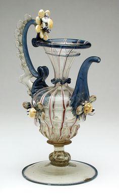 Vetro a Fili' Ewer  --  Late 17th Century  --  Venice  --  Los Angeles County Museum of Art