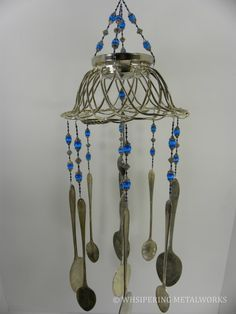 DIY Wind Chimes From Junk | Wind chime with re purposed vintage silver by WhisperingMetalworks, $ ...