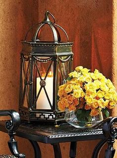 Perfect poolside or atop a side table, the Avalon Lantern easily encloses a candle to shine a light on your outdoor parties