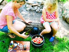 Healthy camping food for the family at the campsite - click the image for more