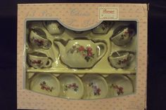 Vintage China Toy Tea Set 13 pcs MINT in Original Box  #SummcoInternationalInc