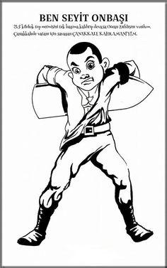 18 Mart Çanakkale Zaferi Etkinlikleri | OkulÖncesi Sanat ve Fen Etkinlikleri Paylaşım Sitesi History For Kids, History Classroom, Martini, Boxer, Kindergarten, Ocean, Memes, Turkish People, Rage