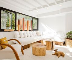 Cozy Modern Interior with Wooden Furniture